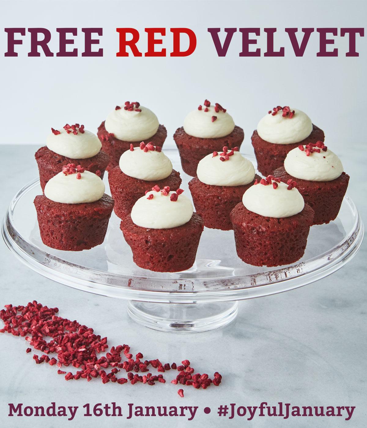 A platter of Mini Red Velvet Cakes
