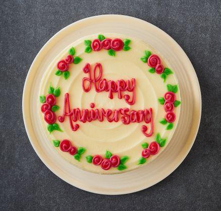 happy anniversary roses cake