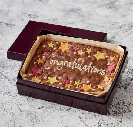 Star Border Congratulations Brownie Slab