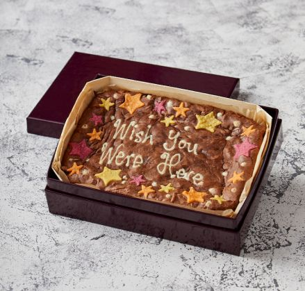 Star Border Wish You Were Here Brownie Slab