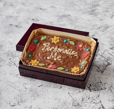 Floral Border Personalise Me Brownie Slab