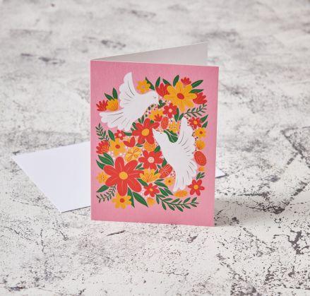 Floral Bird Card