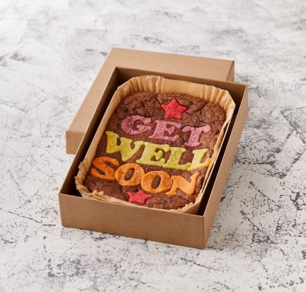 Get Well Soon Brownie Slab