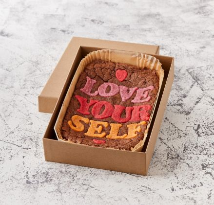 Love Yourself Brownie Slab