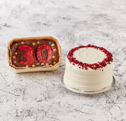 Mini Numbered Brownie Slab & Cake
