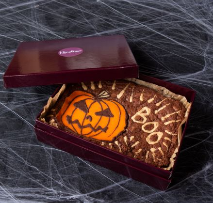 Halloween Brownie Slab