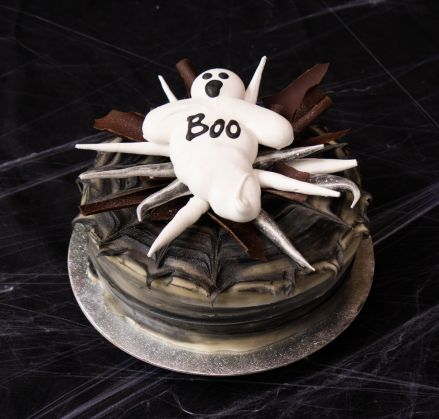 Ghost 'Boo'ster Cake