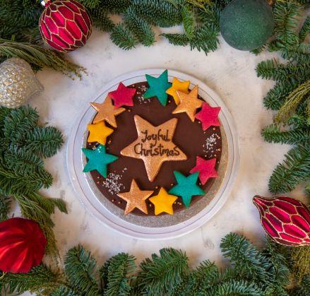 Christmas Stars Vegan Cake