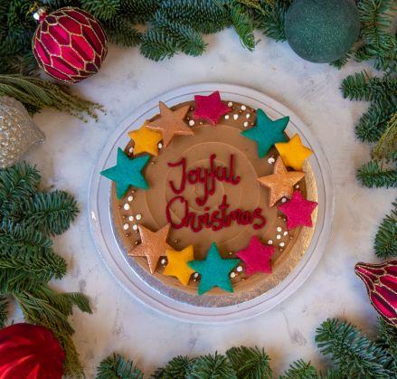 Christmas Stars Chocolate Noisette Cake