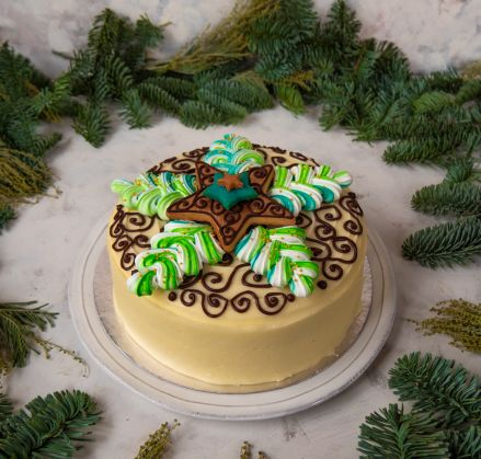 chocolate vanilla christmas cake