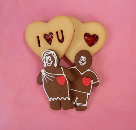 Lovers' Delight - Gingerbread Man & Woman & Jammy Dodgers
