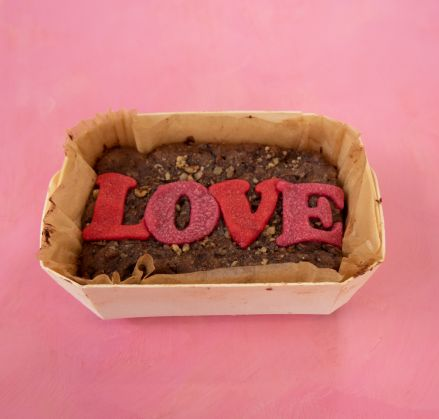 Small Vegan Love Brownie Slab