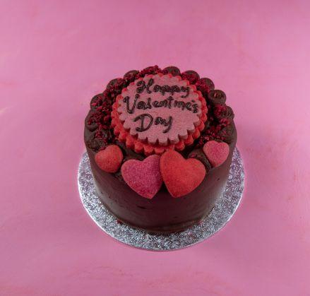 Vegan Love Hearts Cake