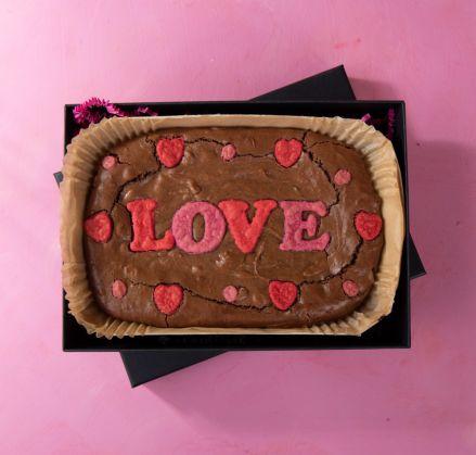 Large Love Brownie Slab
