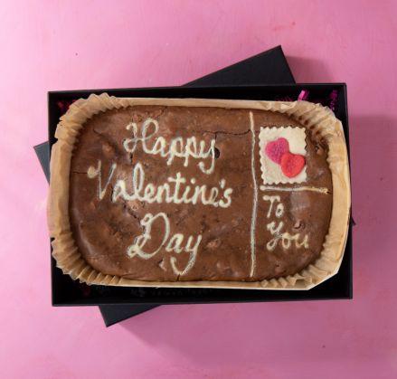 Love Letter Brownie Slab