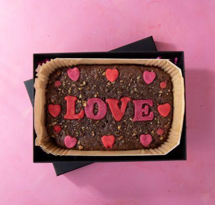 Large Vegan Love Brownie Slab