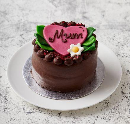 Vegan Mother's Day Heart Cake