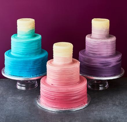 ombre frosted wedding cakes special occasion london