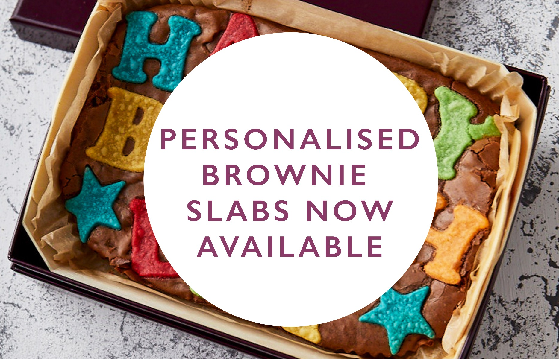 Personalised Brownie Slabs